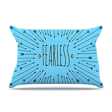 KESS InHouse Fearless Pillowcase; King