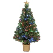 Jolly Workshop Fiber Optic 2' 8'' Green Artificial Christmas Tree w/ LED Muticolor Light