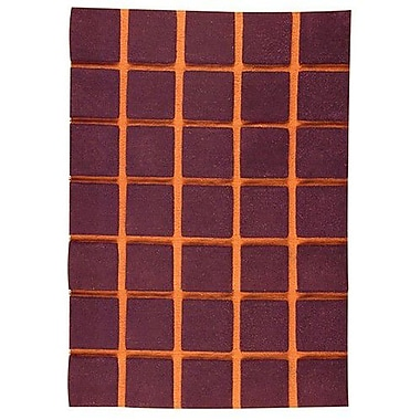 Hokku Designs Manhattan Brown Area Rug; Rectangle 4'6'' x 6'6''