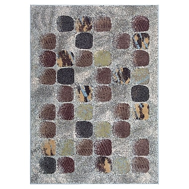 Nourison Modesto Gray/Brown Area Rug; 7'10'' x 10'6''