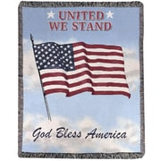 Manual Woodworkers & Weavers United We Stand Tapestry Cotton Throw