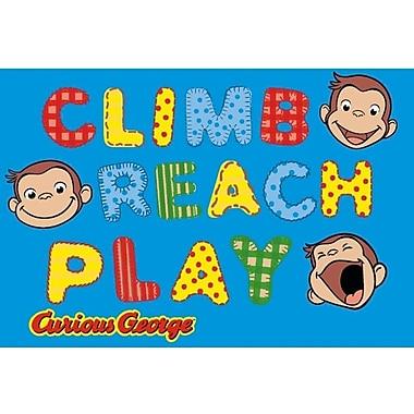 Fun Rugs Curious George Climb, Reach, Play Kids Rug; 4'3'' x 6'6''
