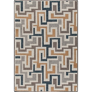 Milliken Mix and Mingle Stone Junctions Rug; 5'4'' x 7'8''