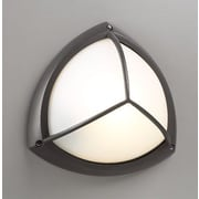 PLC Lighting 1-Light Outdoor Flush Mount; Architectural Bronze