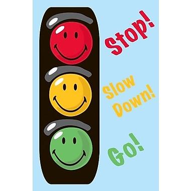 Fun Rugs Smiley World Traffic Signal Blue Area Rug; 1'7'' x 2'5''