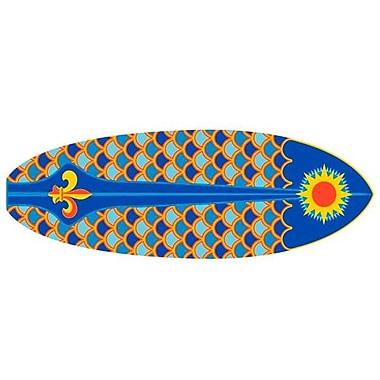 Fun Rugs Surf Time Laguna Surf Area Rug; Oval 1'4'' x 3'11''