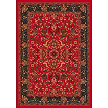 Milliken Pastiche Abadan Currant Red Rug; Oval 3'10'' x 5'4''