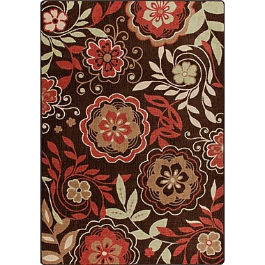 Milliken Mix and Mingle Native Red Garden Passage Rug; 5'4'' x 7'8''