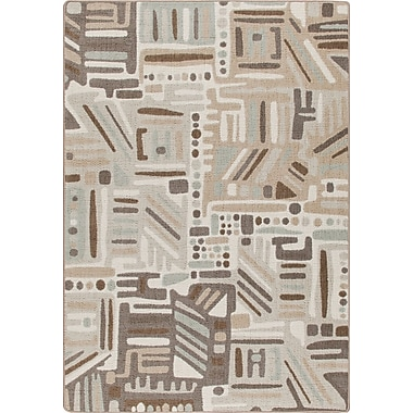Milliken Mix and Mingle Silver Point Urban Order Rug; 3'10'' x 5'4''