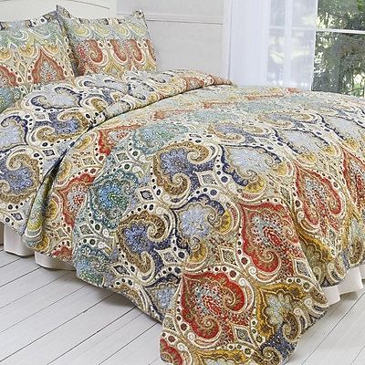 Classic Treasures Genoa Quilt Set; Full / Queen