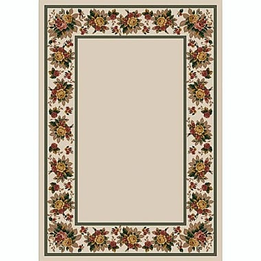 Milliken Design Center Opal Floral Lace Area Rug; Rectangle 3'10'' x 5'4''