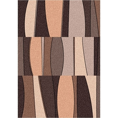 Milliken Modern Times Sinclair Dark Chocolate Area Rug; Rectangle 5'4'' x 7'8''