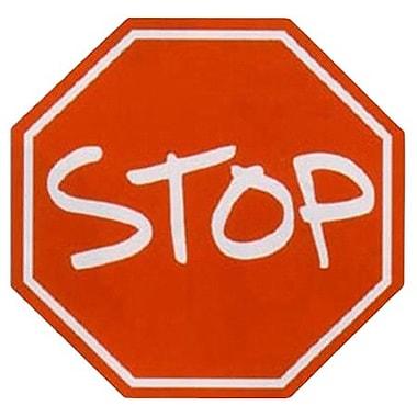 Fun Rugs Fun Shape High Pile Stop Sign Area Rug; Hexagon 3'3''