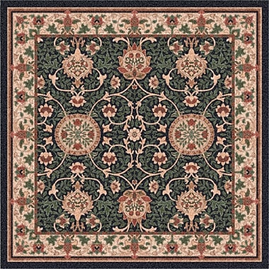 Milliken Pastiche Sumero Cream Ebony Area Rug; Rectangle 3'10'' x 5'4''