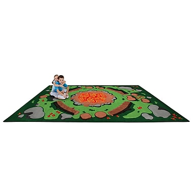 Kid Carpet Campfire Playtime Kids Area Rug; Rectangle 6' x 8'6''