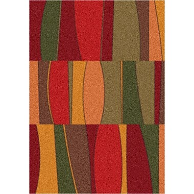 Milliken Modern Times Red Area Rug; Rectangle 2'8'' x 3'10''