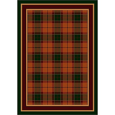 Milliken Design Center Amber Emerald Magee Plaid Area Rug; Runner 2'4'' x 11'8''