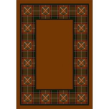 Milliken Design Center Dark Amber Country Clubs Area Rug; Runner 2'4'' x 11'8''