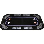 JP Commerce 3 in 1 Poker Craps and Roulette Folding Table Top w/ Cup Holders