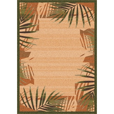 Milliken Modern Times Palm Deep Olive Area Rug; Rectangle 2'1'' x 7'8''