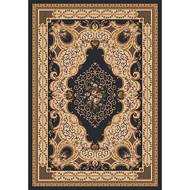 Milliken Pastiche Kashmiran Valette Ebony Rug; Rectangle 3'10'' x 5'4''