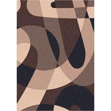 Milliken Modern Times Element Dark Brown Area Rug; Square 7'7''