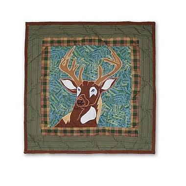 Patch Magic Whitetail Grove Cotton Throw Pillow