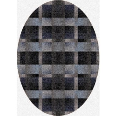 Milliken Modern Times Aura Charcoal Area Rug; Oval 3'10'' x 5'4''