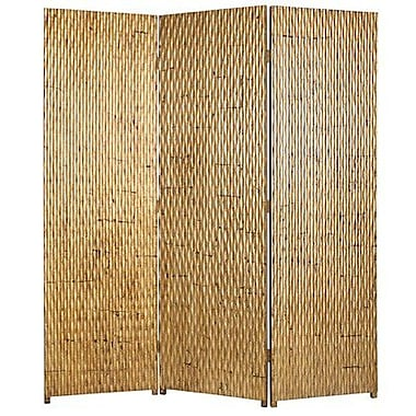 Screen Gems Gilded 72'' x 63'' 3 Panel Room Divider