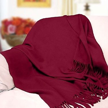 Peach Couture Peach Couture Signature Cashmere Throw; Maroon
