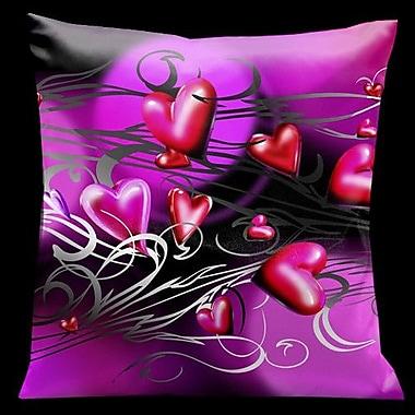 Lama Kasso Valentine Hearts Throw Pillow