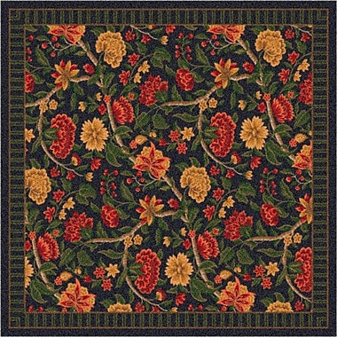 Milliken Pastiche Vachell Floral Ebony Area Rug; Oval 7'8'' x 10'9''