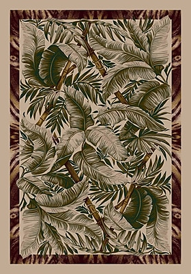 Milliken Signature Jungle Fever Pearl Mist Area Rug; Rectangle 7'8'' x 10'9''