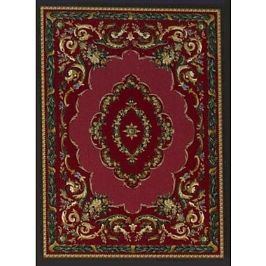 Milliken Innovation Lafayette Ruby Onyx Area Rug; Oval 5'4'' x 7'8''
