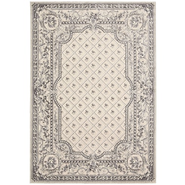 Kathy Ireland Home Gallery Villa Retreat Garden Romance Ivory/Gray Area Rug; 7'9'' x 10'10''