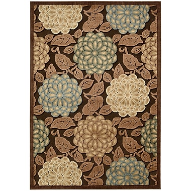 Nourison Graphic Illusions Brown/Tan Floral Area Rug; 2'3'' x 3'9''