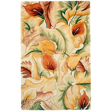 KAS Rugs Catalina Ivory Calla Lillies Rug; 3'3'' x 5'3''