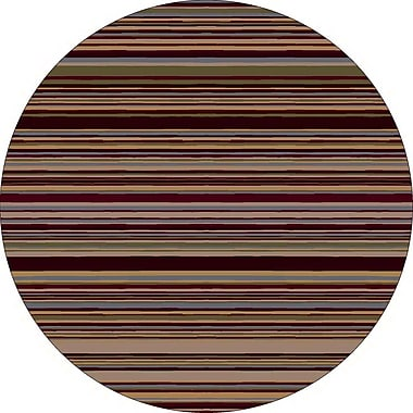 Milliken Innovation Lola Dark Chocolate Striped Area Rug; Round 7'7''