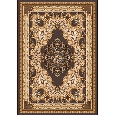 Milliken Pastiche Kashmiran Valette Leather Brown Area Rug; Octagon 7'7''