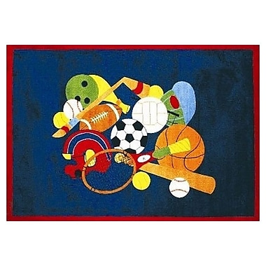 Fun Rugs Fun Time American Sports Area Rug; 4'3'' x 6'6''