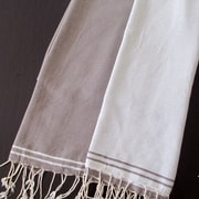 Scents and Feel Split Fouta Towel; White / Mink
