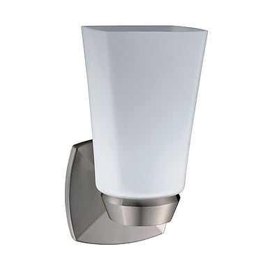 Gatco Jewel 1-Light Wall Sconce; Satin Nickel