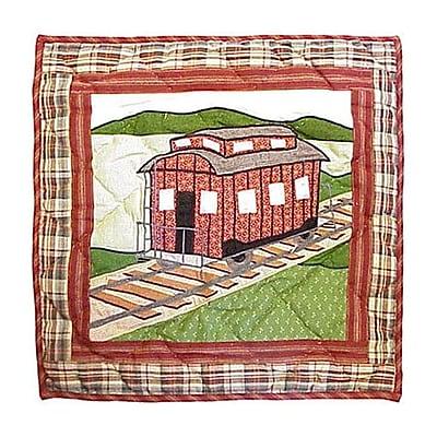 Patch Magic Train Toss Cotton Throw Pillow