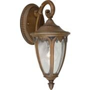Forte Lighting 1-Light Outdoor Wall Lantern; 13.5'' H x 6'' W x 8'' D / Rustic Sienna