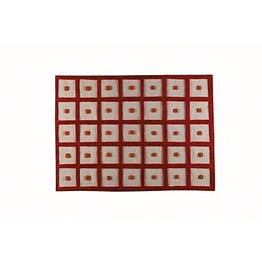 Hokku Designs Orange Frame Area Rug; 5'6'' x 7'10''