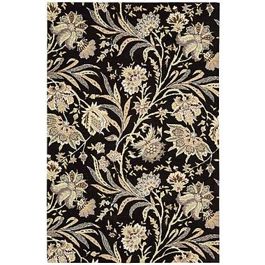Nourison Gatsby Hand-Tufted Black Area Rug; 8' x 10'6''