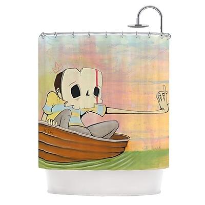 KESS InHouse Drifting Shower Curtain
