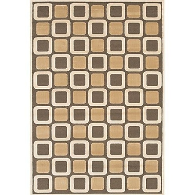 Chandra Rita Brown/Tan Area Rug; 3'11'' x 5'7''