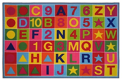 Fun Rugs Fun Time Alphanumeric Fun Area Rug; 6'8'' x 10'