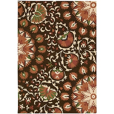 Nourison Suzani Hand-Tufted Brown Area Rug; 8' x 10'6''